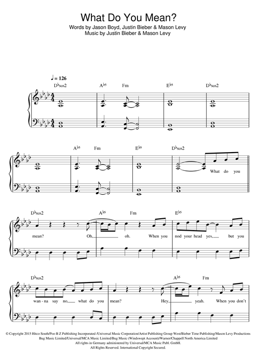 What Do You Mean? sheet music