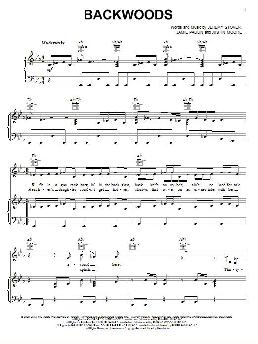 Backwoods sheet music