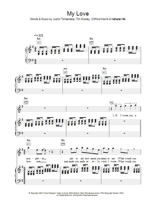 My Love sheet music