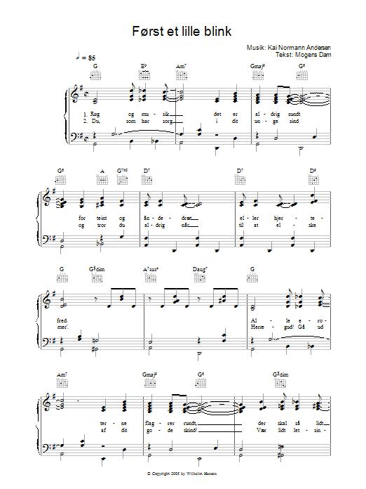 Først Et Lille Blink sheet music