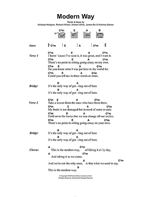 Modern Way sheet music
