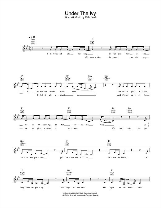 Under The Ivy sheet music