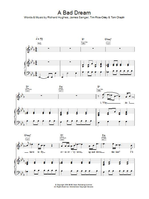 A Bad Dream sheet music