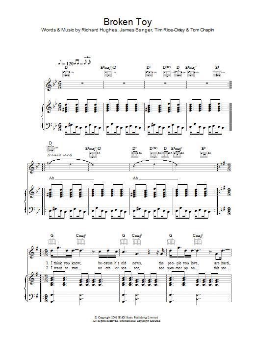 Broken Toy sheet music