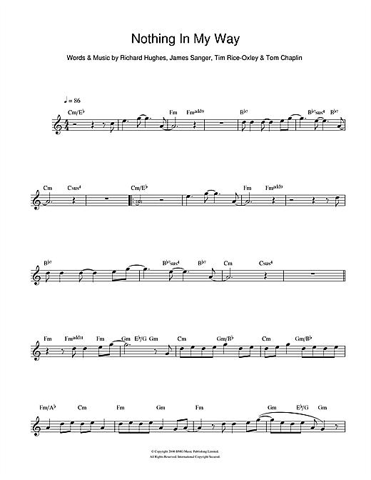 Nothing In My Way sheet music