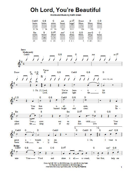 Oh Lord, You're Beautiful sheet music
