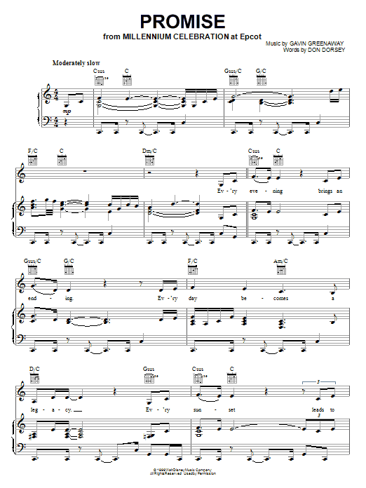Promise sheet music