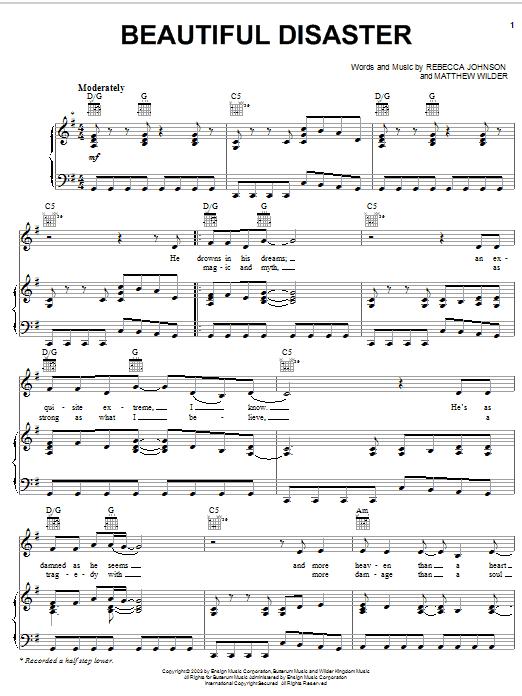 Beautiful Disaster sheet music
