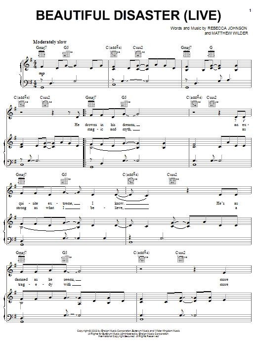 Beautiful Disaster (Live) sheet music