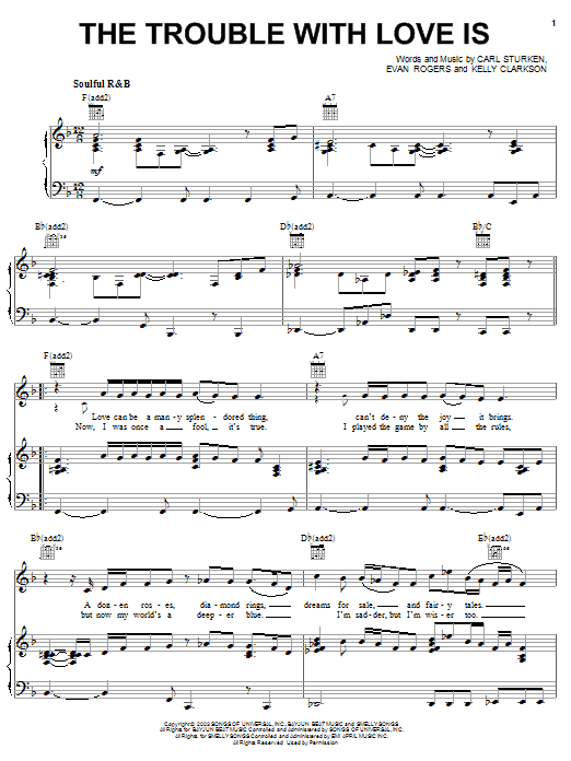 The Trouble With Love Is sheet music