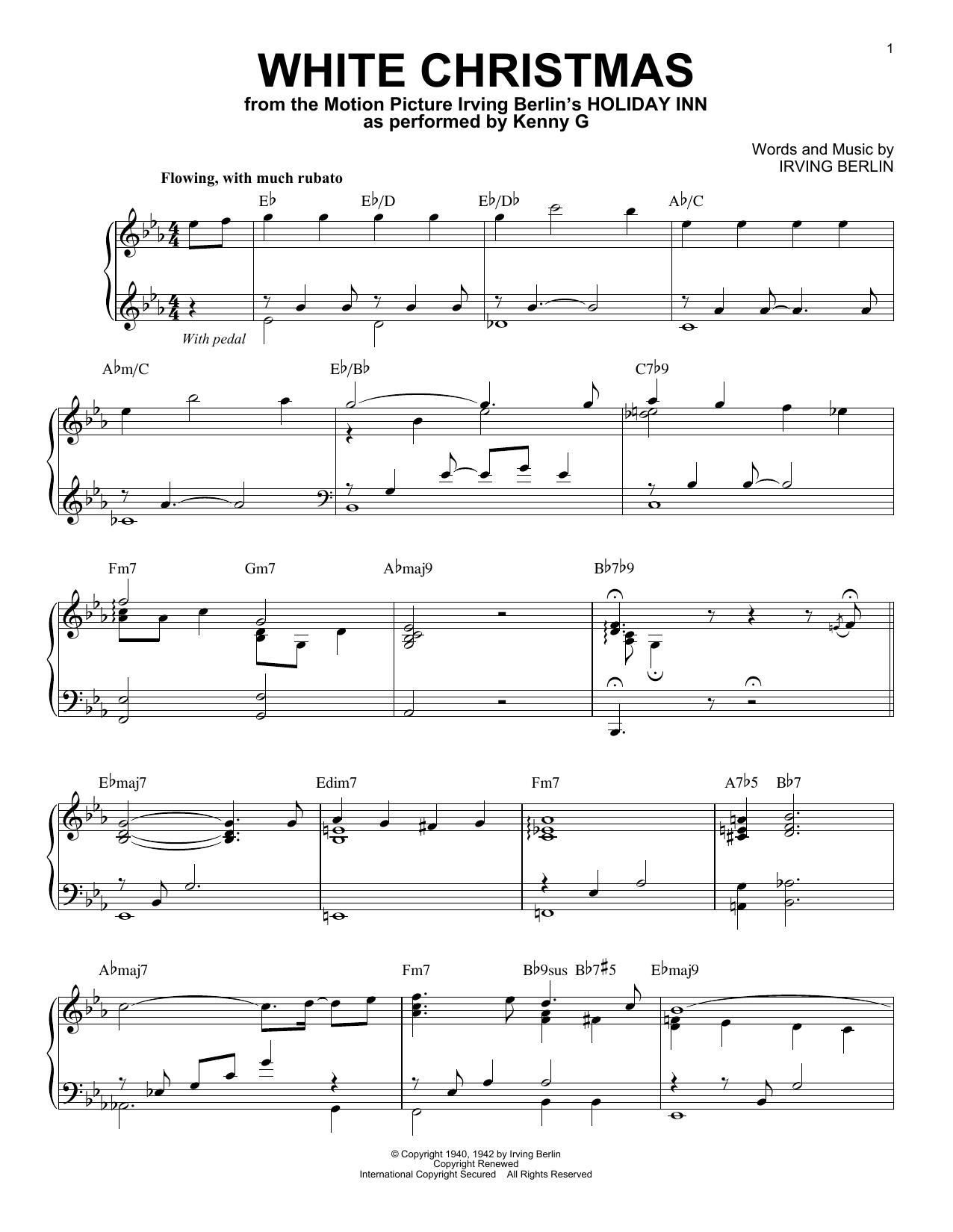 Kenny G White Christmas Sheet Music Download Pdf Score 415734