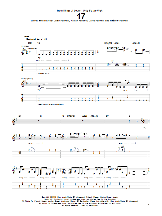 17 sheet music