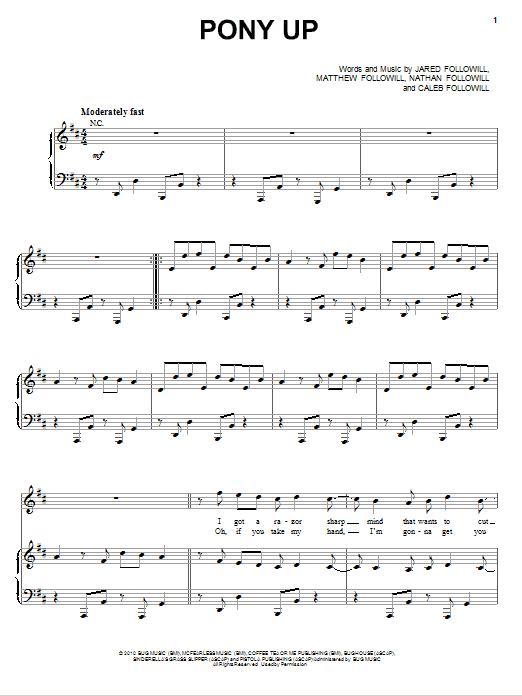 Pony Up sheet music