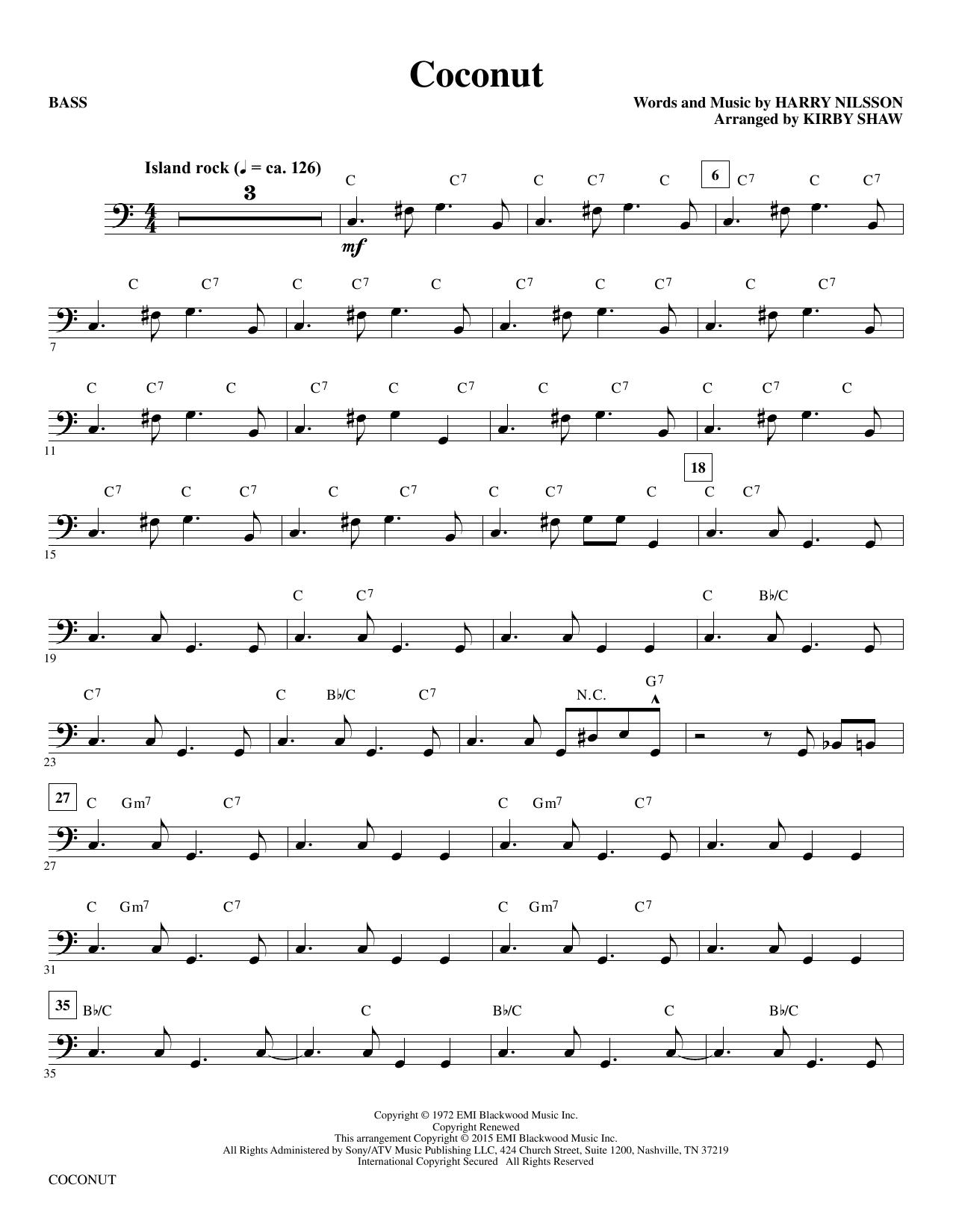Coconut - Bass sheet music