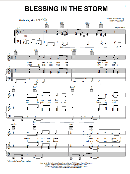 Blessing In The Storm sheet music