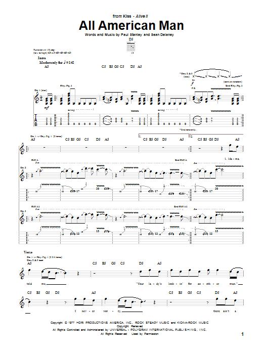 All American Man sheet music