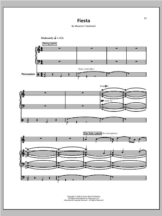 Fiesta/Space Queen (Space 2) sheet music