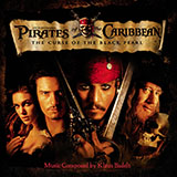 Download Klaus Badelt 'He's A Pirate (from Pirates Of The Caribbean: The Curse Of The Black Pearl)' printable sheet music notes, Film and TV chords, tabs PDF and learn this Beginner Piano song in minutes