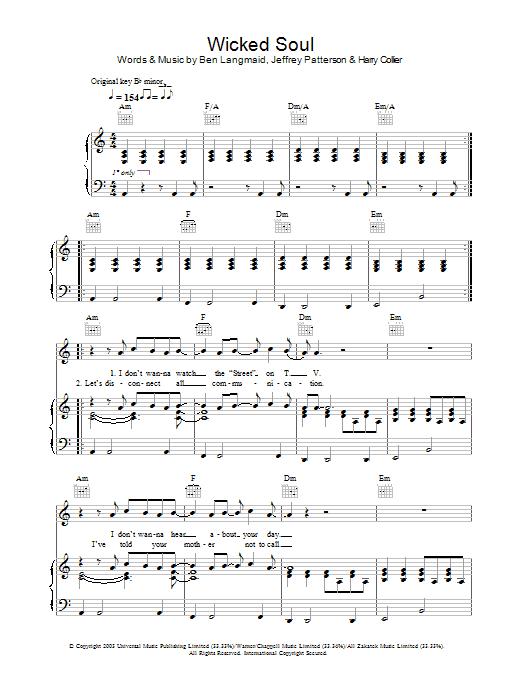 Wicked Soul sheet music