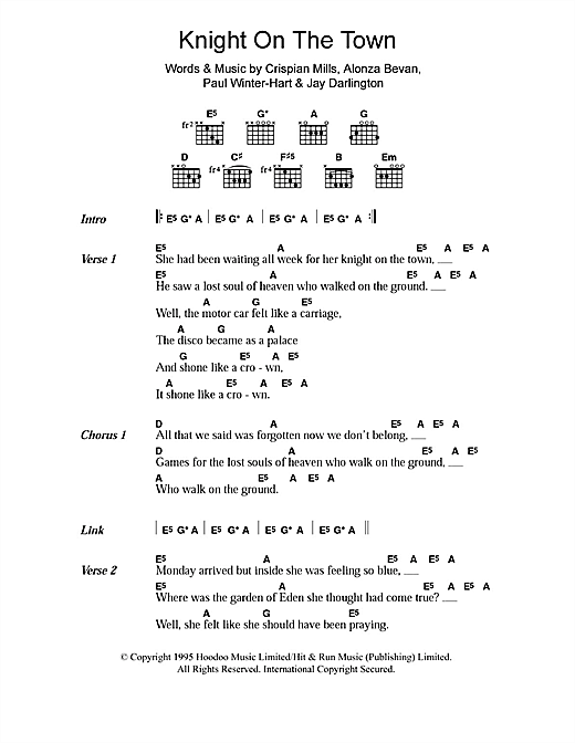 Knight On The Town sheet music