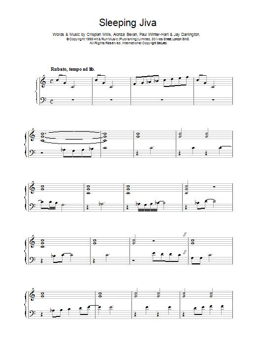 Sleeping Jiva sheet music