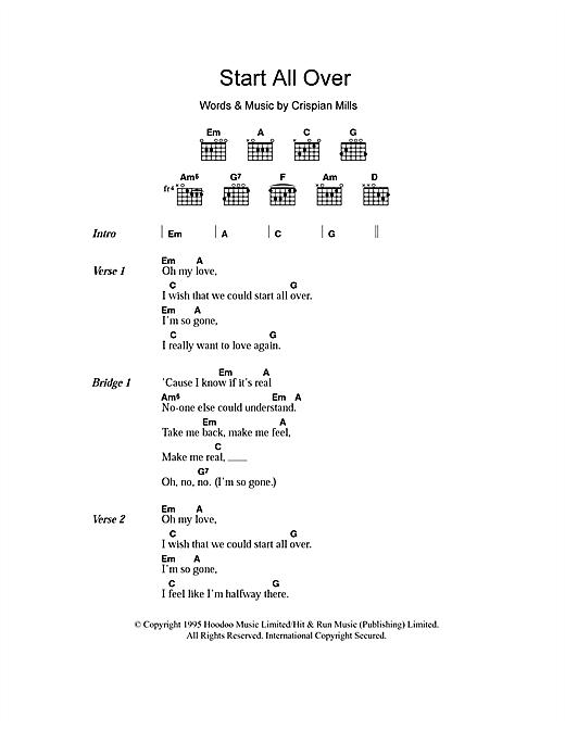 Start All Over sheet music