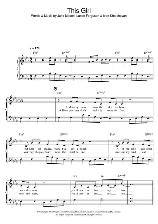 This Girl sheet music