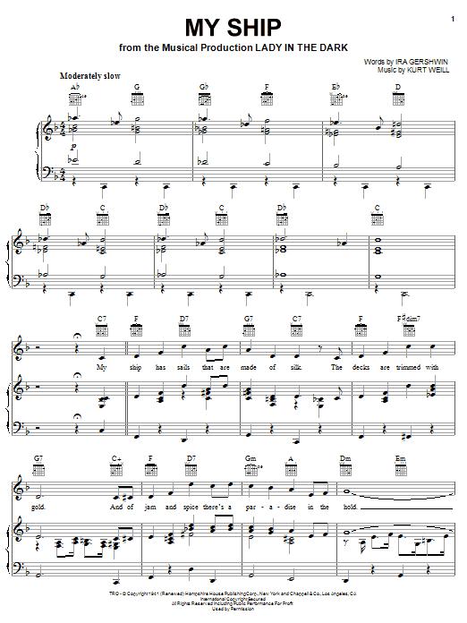 My Ship sheet music