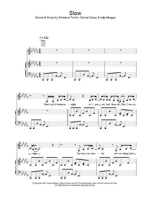 Slow sheet music
