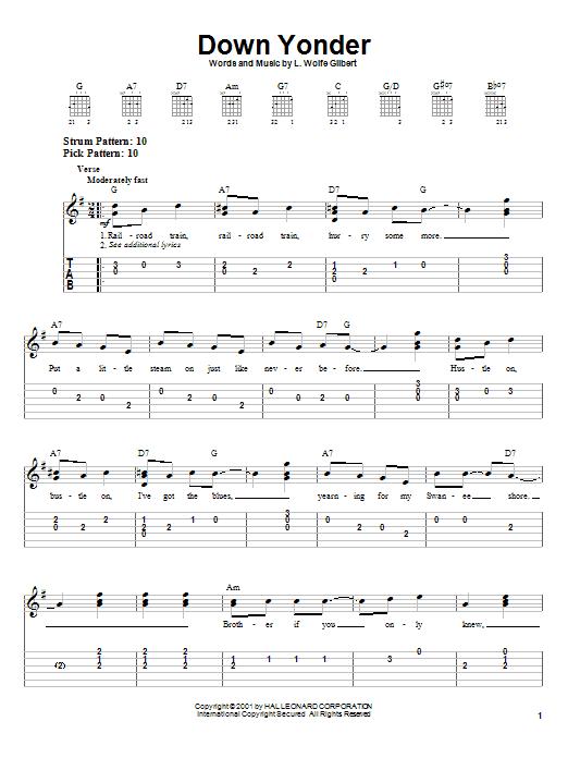 Down Yonder sheet music