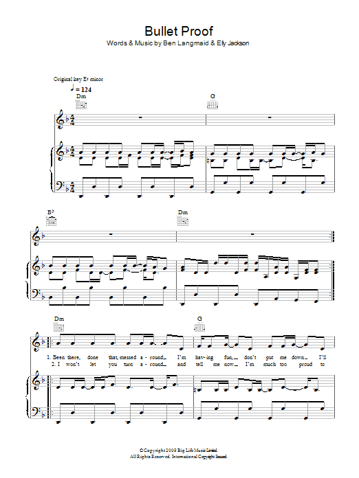 Bullet Proof sheet music