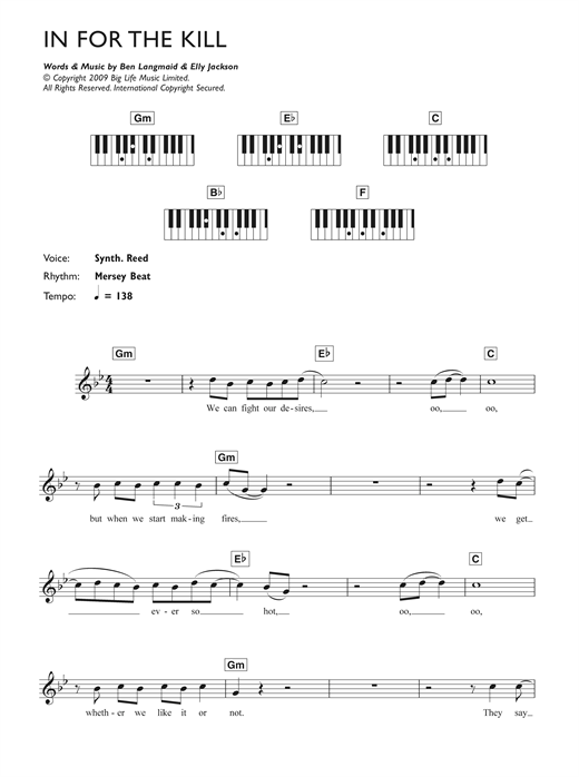 In For The Kill sheet music
