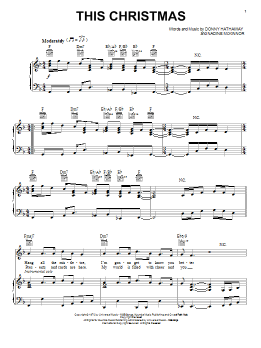 This Christmas sheet music