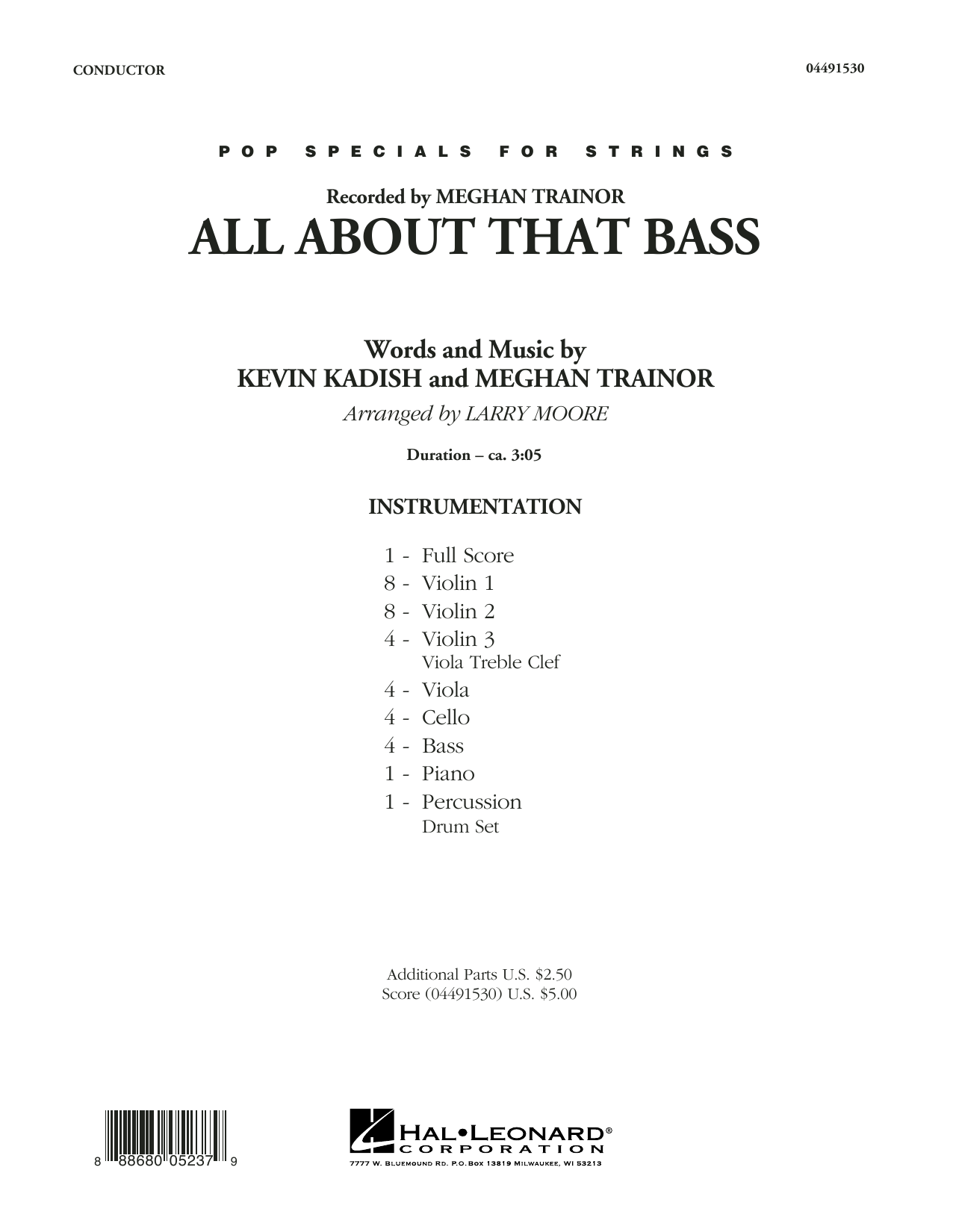 All About That Bass - Conductor Score (Full Score) sheet music