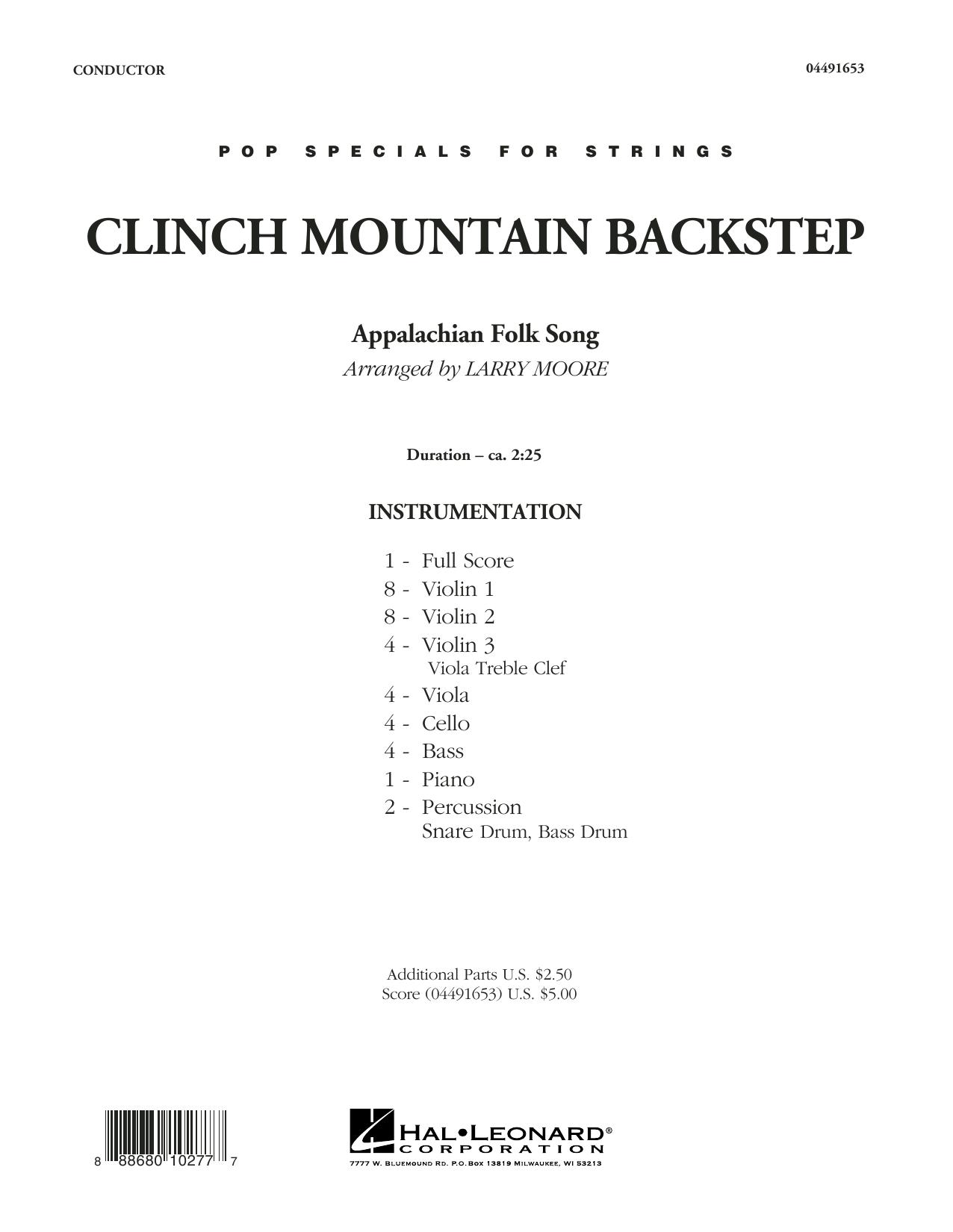Clinch Mountain Backstep - Conductor Score (Full Score) sheet music