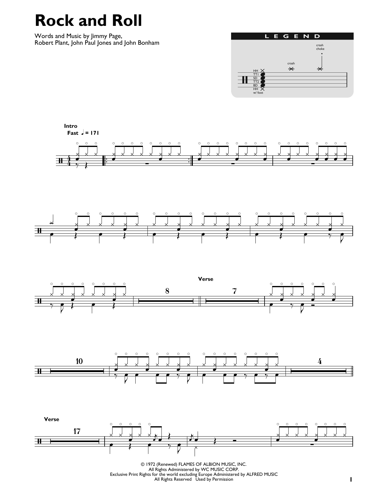 Rock And Roll sheet music