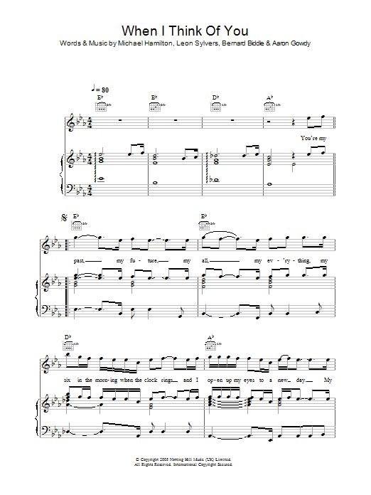 When I Think Of You sheet music