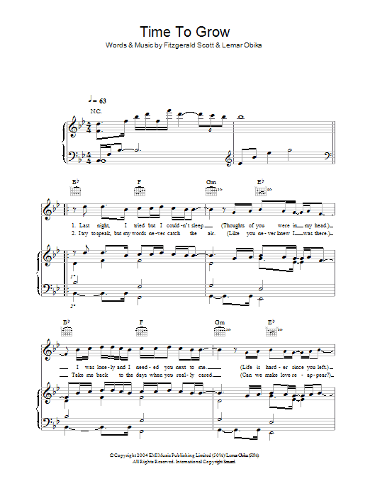 Time To Grow sheet music