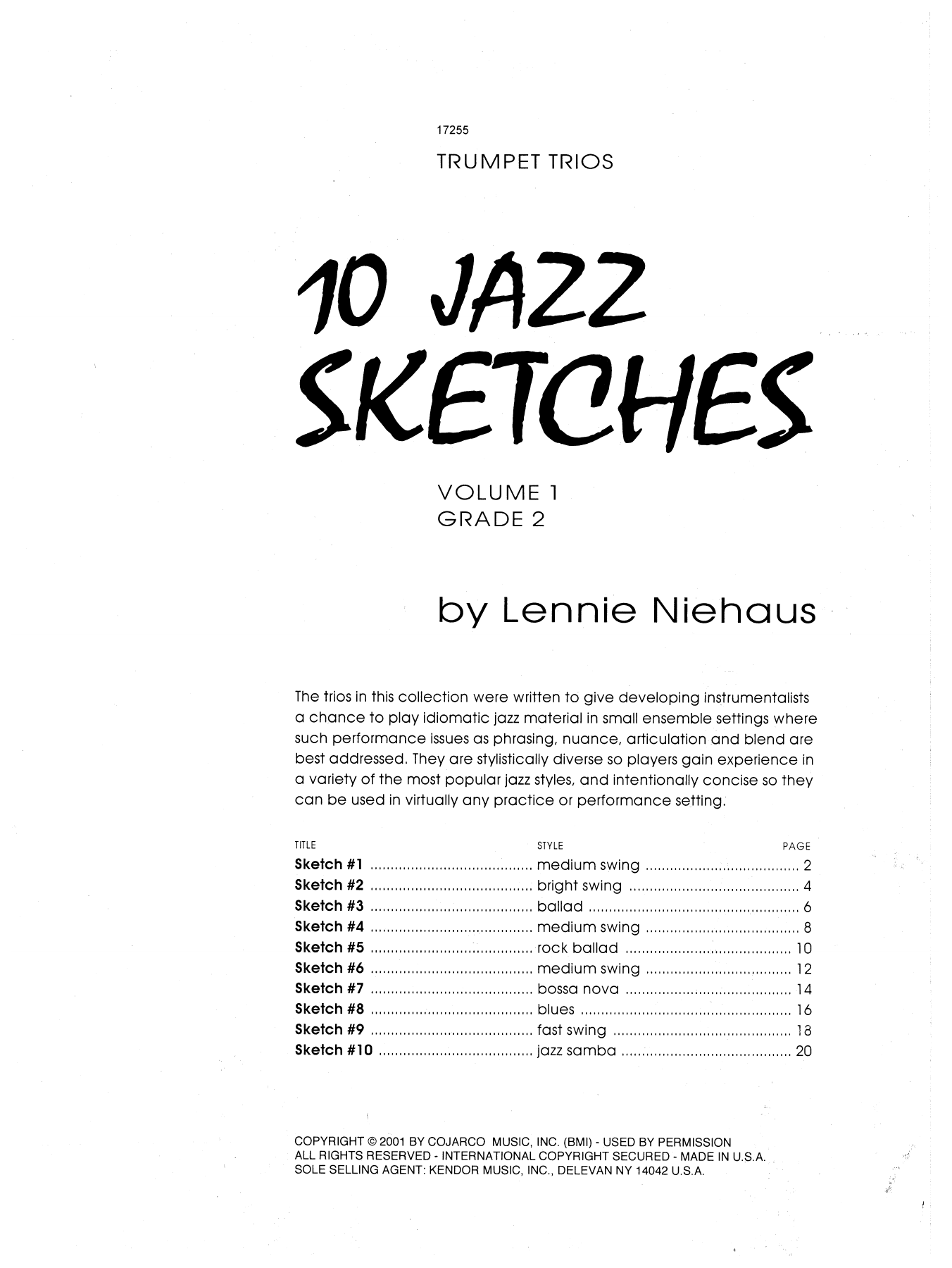 10 Jazz Sketches, Volume 1 sheet music