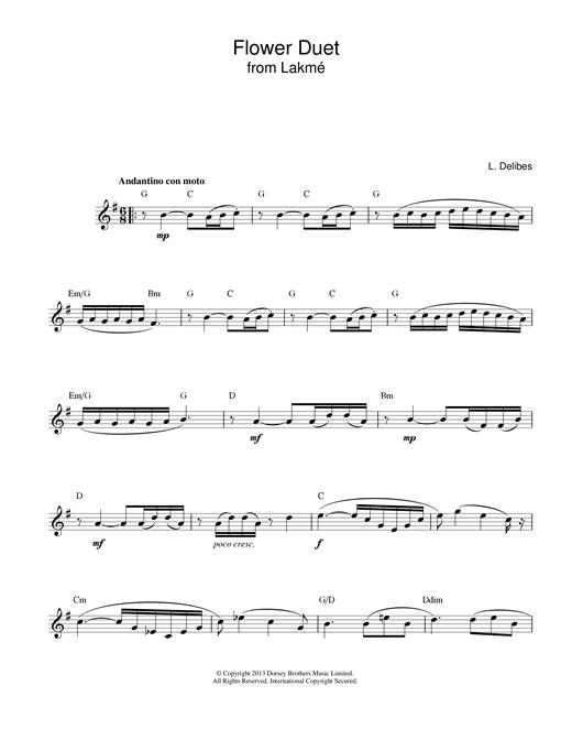 Flower Duet (from Lakme) sheet music