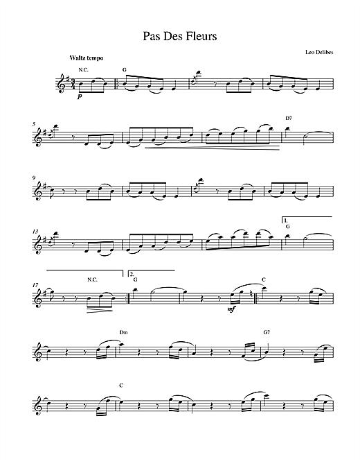 Pas Des Fleurs sheet music