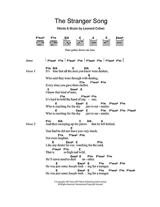 The Stranger Song sheet music