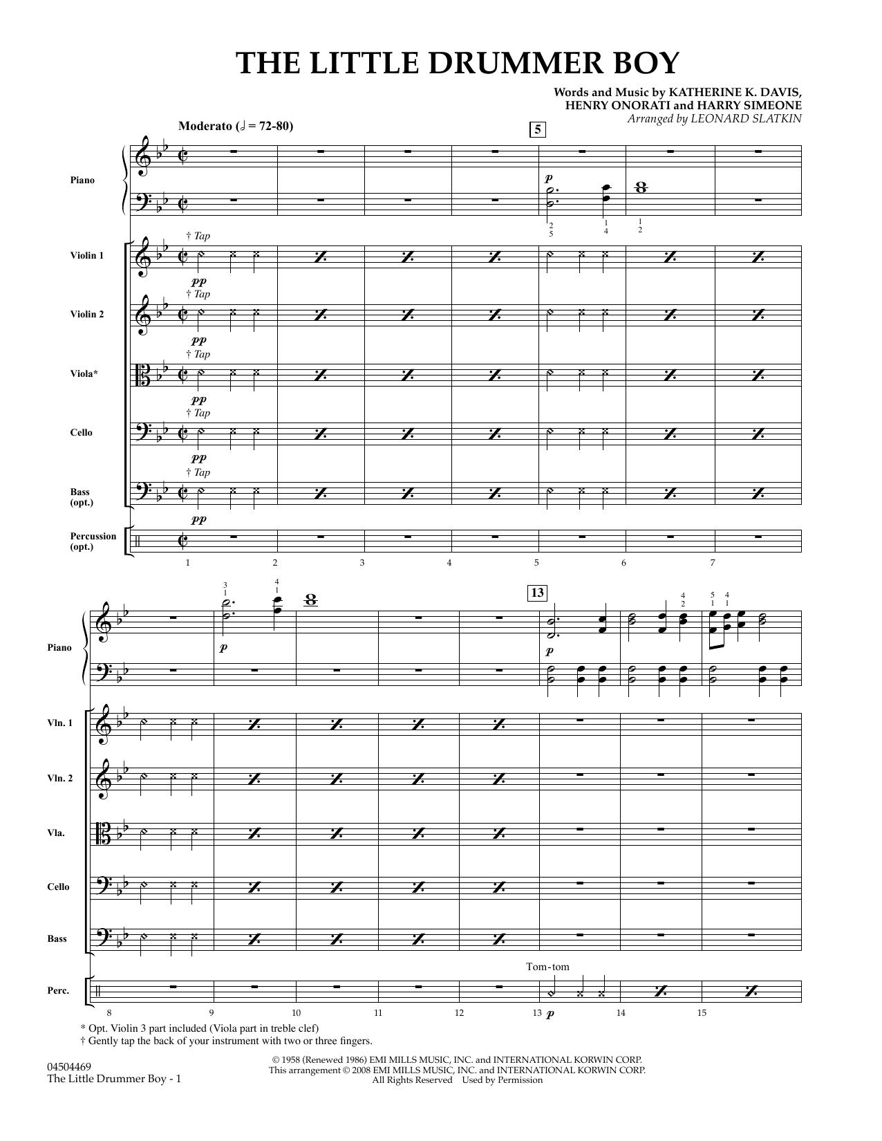 The Little Drummer Boy - Conductor Score (Full Score) sheet music