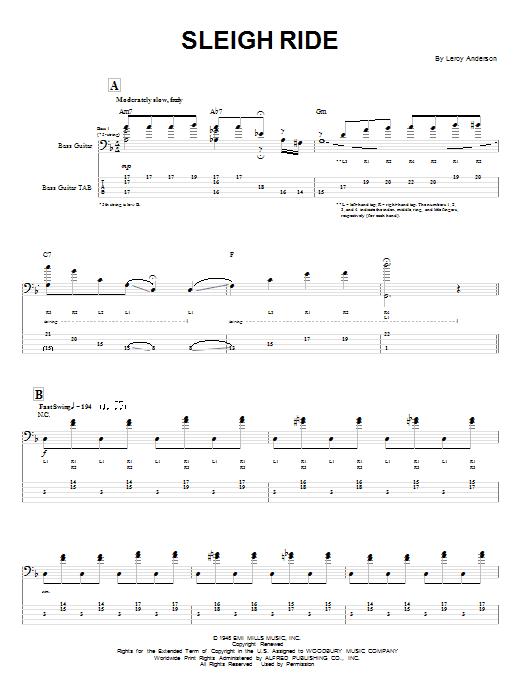 Sleigh Ride sheet music