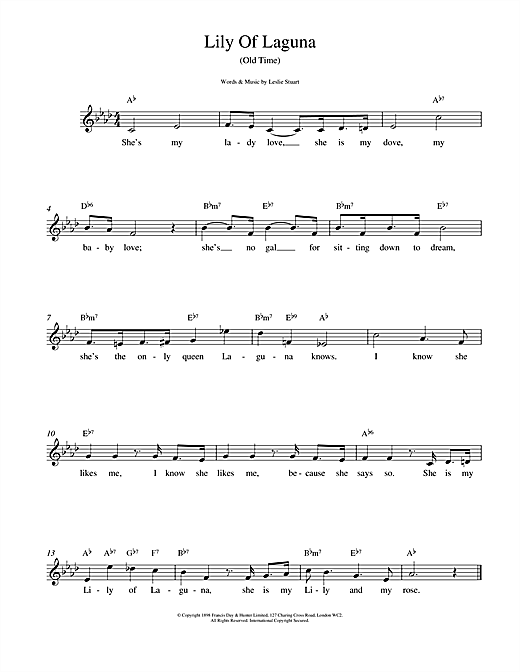Lily Of Laguna sheet music