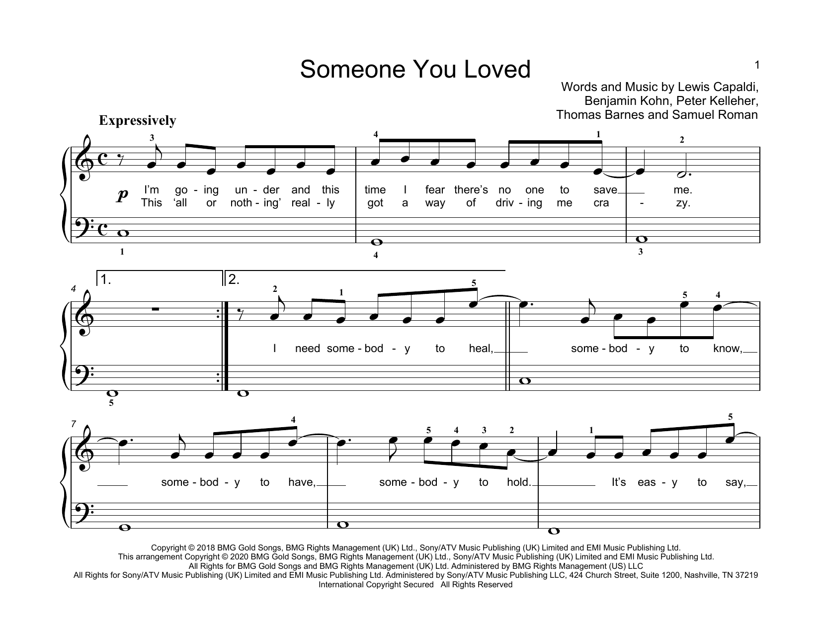 Someone You Loved sheet music
