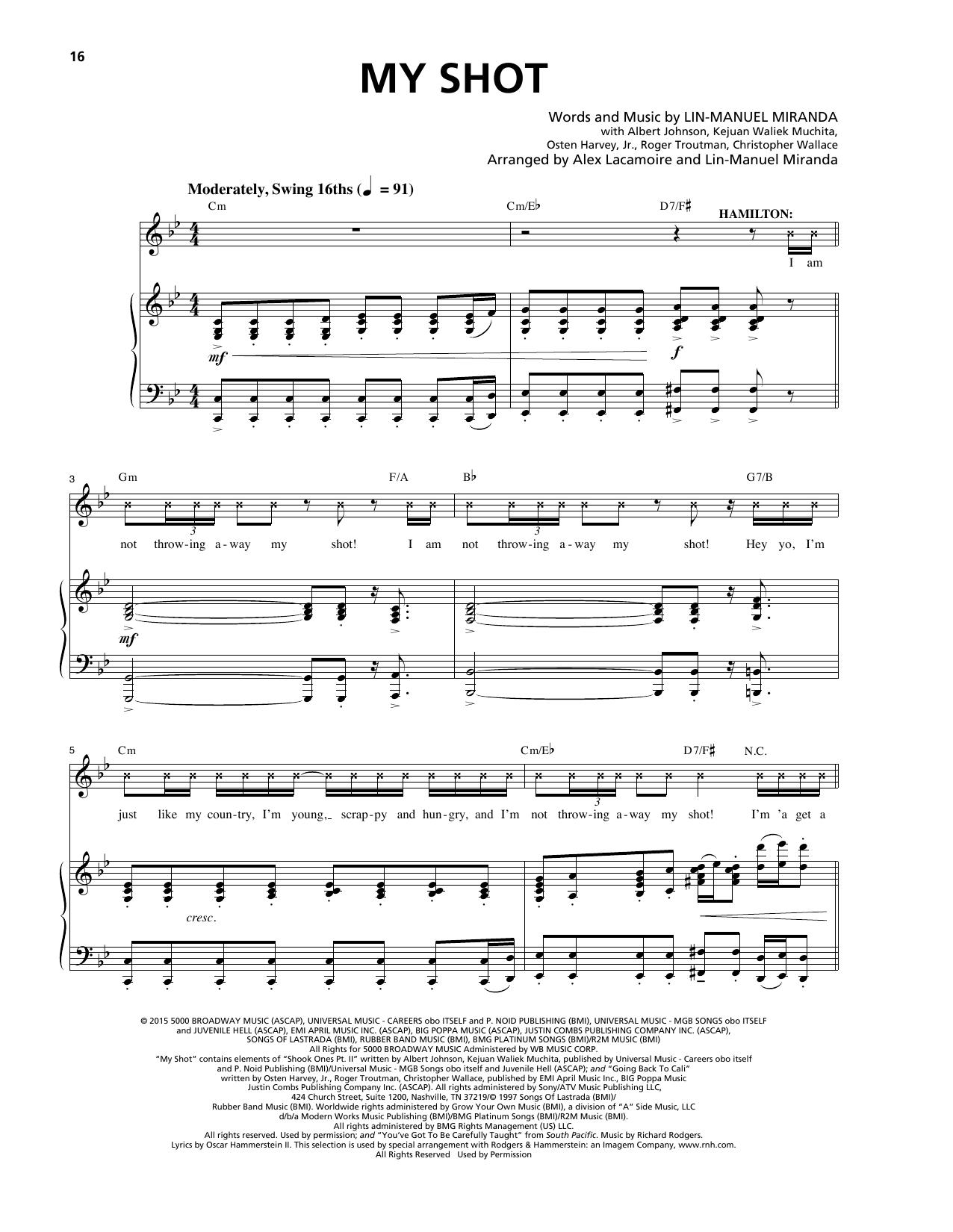 My Shot (from Hamilton) sheet music
