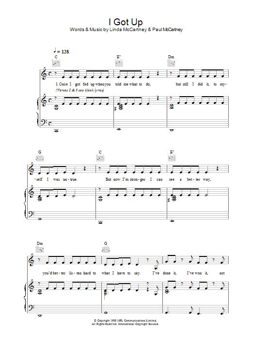 I Got Up sheet music