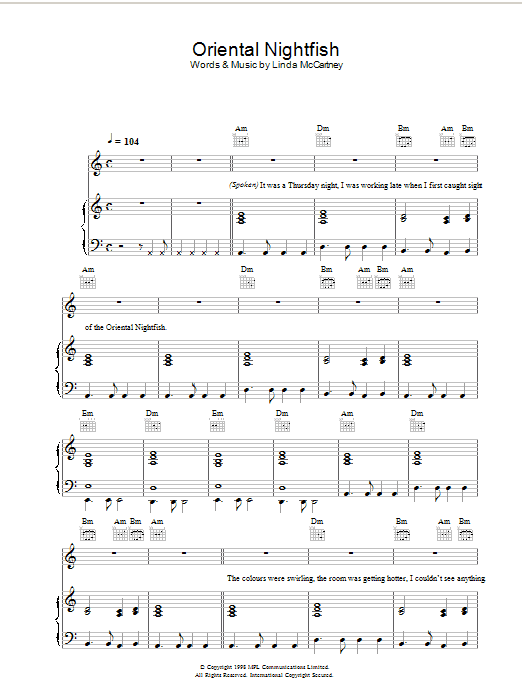 Oriental Nightfish sheet music