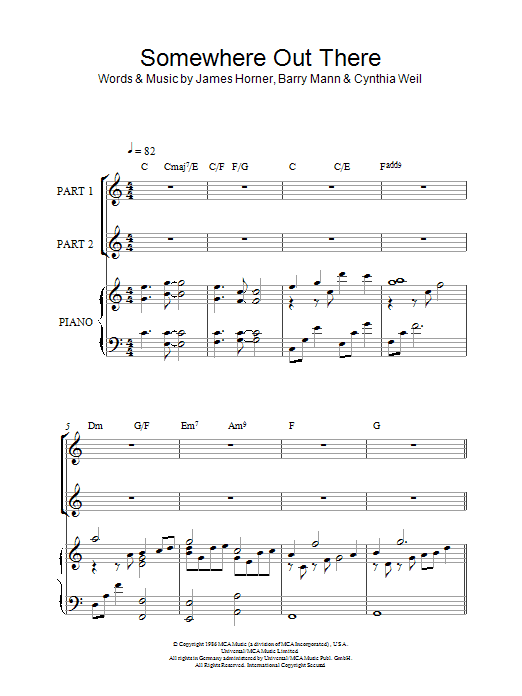 Somewhere Out There (arr. Rick Hein) sheet music